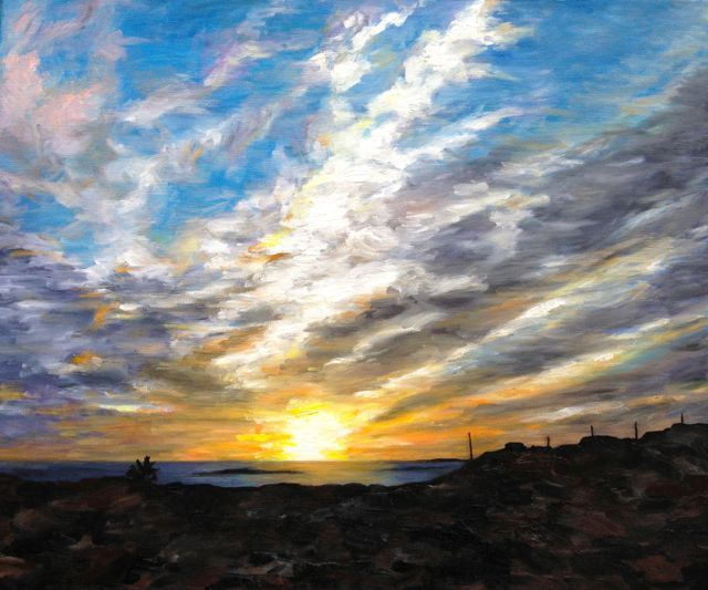 14. Atlantic Sunset Galway 50cmx60cm