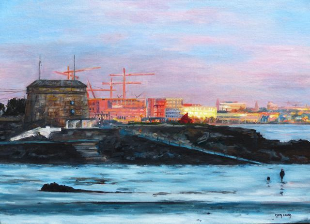6.Sunrise at Seapoint 35cmx45cm