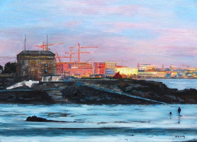 6.Sunrise at Seapoint 35cmx45cm